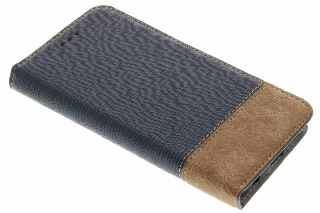 Denim Booktype voor Samsung Galaxy S7 Edge - Donkerblauw