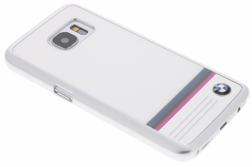 BMW Hard Case Aluminium Plate voor de Samsung Galaxy S7 - Wit