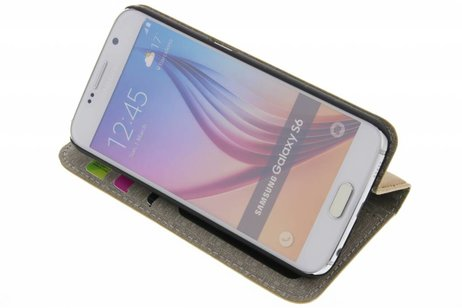 Samsung Galaxy S6 hoesje - Denim Booktype voor Samsung