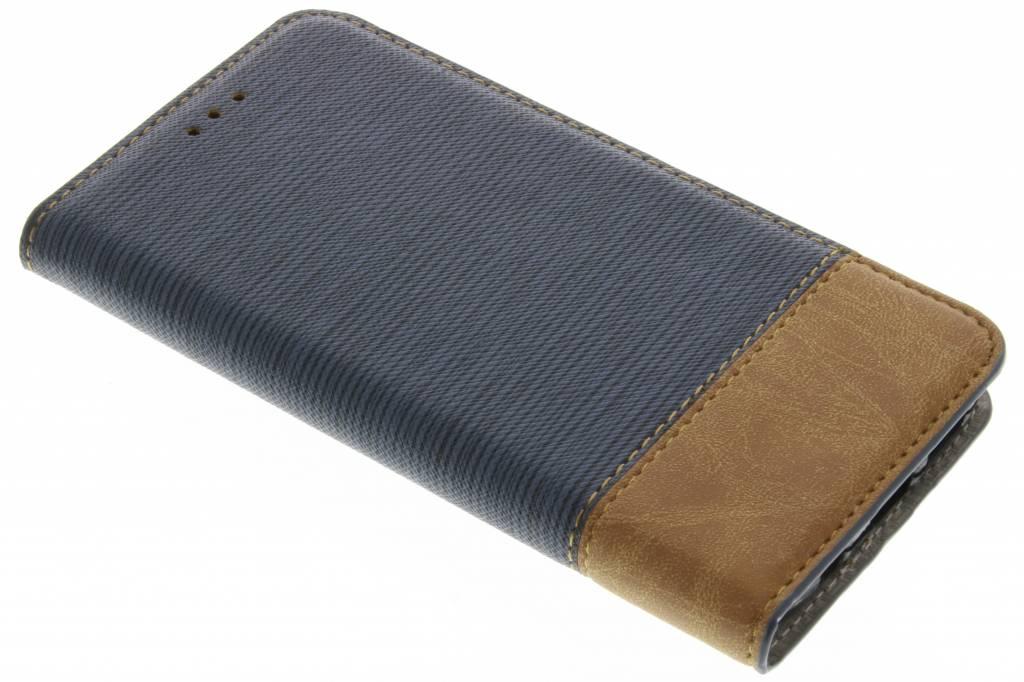 Denim Booktype voor Samsung Galaxy S7 - Donkerblauw