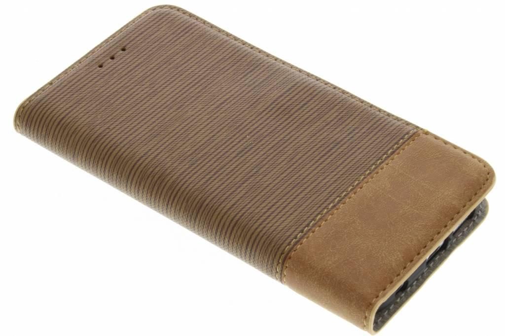 Denim Booktype voor Samsung Galaxy S6 Edge - Bruin