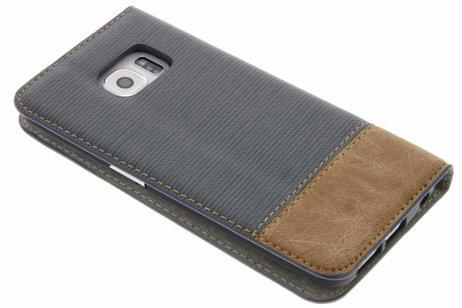 Denim Booktype voor Samsung Galaxy S6 Edge - Grijs