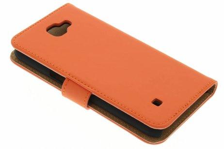 Selencia Luxe Hardcase Booktype voor LG K4 - Oranje
