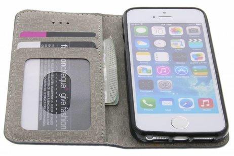 Denim Booktype voor iPhone SE / 5 / 5s - Donkerblauw