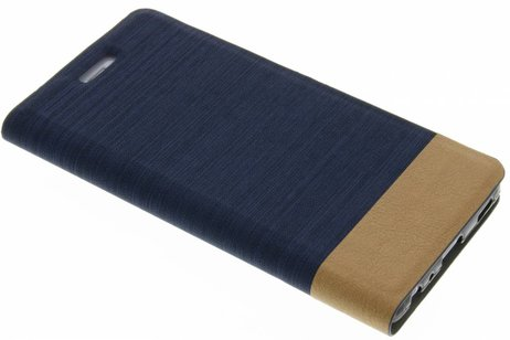 Denim Booktype voor Huawei P9 Plus - Donkerblauw