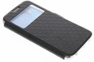 Rhombus Booktype voor Samsung Galaxy S6 Edge - Zwart