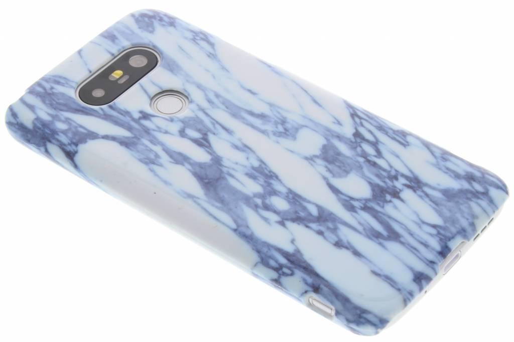 Marmer Hardcase  Backcover voor LG G5 (SE) - Blauw