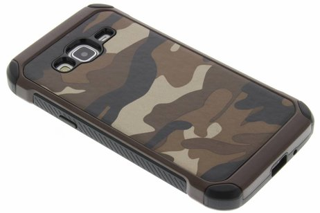 Army Defender Backcover voor Samsung Galaxy J3 / J3 (2016) - Bruin