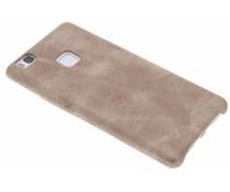 Lichtbruin TPU Leather Case Huawei P9 Lite