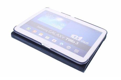 360° Draaibare Bookcase voor Samsung Galaxy Tab 3 10.1 - Blauw