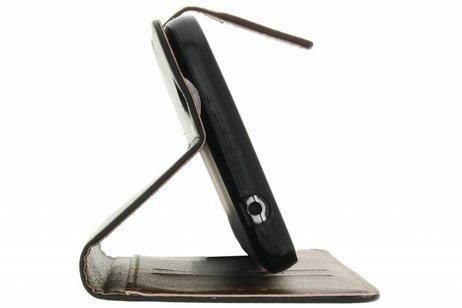 Blad Design Booktype voor iPhone SE / 5 / 5s - Zwart