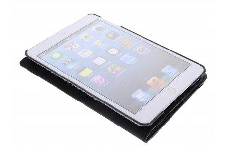 360° Draaibare krokodil Bookcase voor iPad Mini / 2 / 3 - Zwart