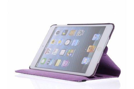 360° Draaibare krokodil Bookcase voor iPad Mini / 2 / 3 - Paars