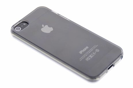 Softcase Backcover voor iPhone SE / 5 / 5s - Grijs