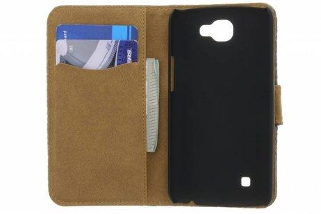 Bruine geweven booktype hoes voor de LG K4