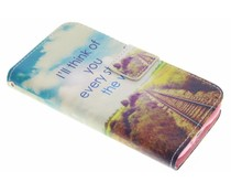 Design Softcase Booktype Samsung Galaxy S5 Mini