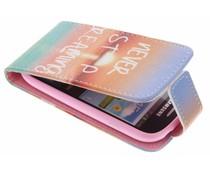 Design Flipcase Samsung Galaxy S3 Mini