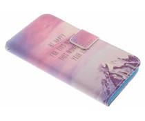 Design Softcase Booktype Samsung Galaxy Alpha
