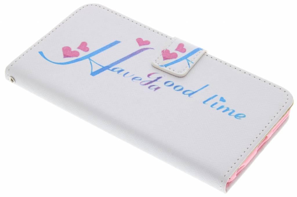 Design Softcase Booktype voor iPhone 6(s) Plus