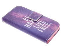 Design Softcase Booktype Samsung Galaxy Ace 4