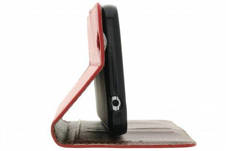Blad Design Booktype voor iPhone 8 / 7 - Rood