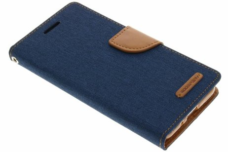Mercury Goospery Canvas Diary Booktype voor Samsung Galaxy J3 / J3 (2016) - Blauw