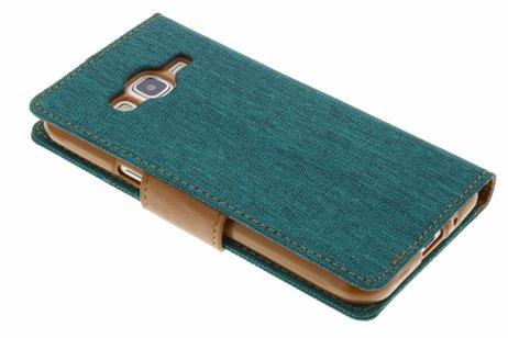 Mercury Goospery Canvas Diary Booktype voor Samsung Galaxy J3 / J3 (2016) - Groen
