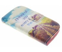 Design Softcase Booktype Samsung Galaxy S3 Mini