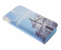 Design Softcase Booktype Samsung Galaxy Core 2