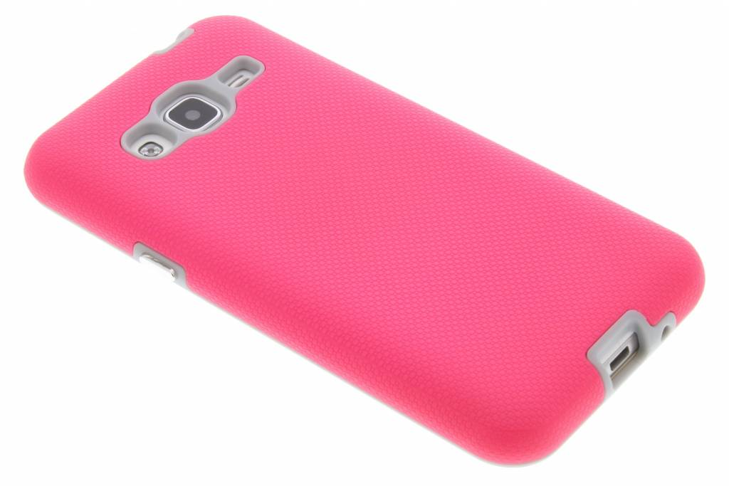 Accezz Xtreme Hardcase Backcover voor Samsung Galaxy J3 / J3 (2016) - Fuchsia