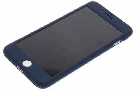 360° Protect Backcover met ring voor iPhone 8 Plus / 7 Plus - Donkerblauw