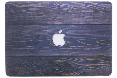 Design Hardshell Cover voor MacBook Pro 13.3 inch - Hout Blauw