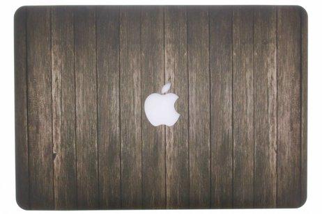 Design Hardshell Cover voor MacBook Pro Retina 13.3 inch 2013-2015 - Hout Donkerbruin