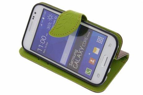 Samsung Galaxy Core Prime hoesje - Blad Design Booktype voor