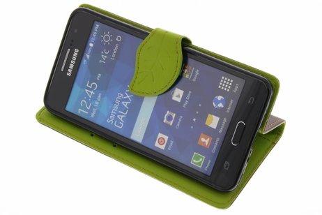 Samsung Galaxy Grand Prime hoesje - Blad Design Booktype voor
