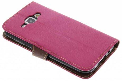 Samsung Galaxy J1 hoesje - Blad Design Booktype voor