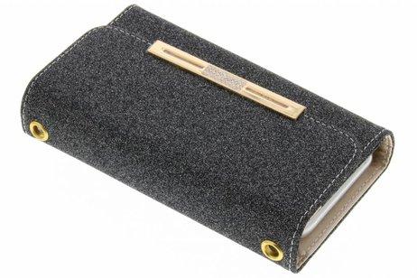 Blingbling Portemonnee voor iPhone 8 Plus / 7 Plus - Zwart