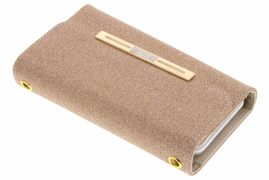 Blingbling Portemonnee voor iPhone 8 Plus / 7 Plus - Goud