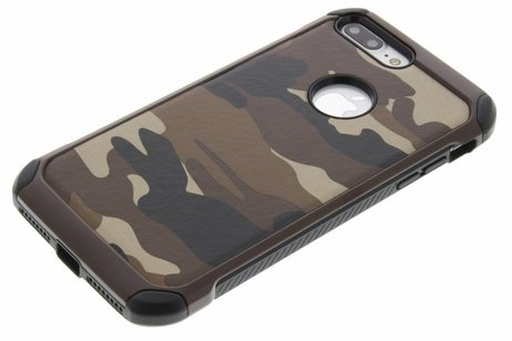 Army Defender Backcover voor iPhone 8 Plus / 7 Plus - Bruin