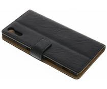 Kreukelleder Booktype Sony Xperia XZ