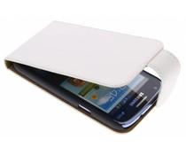Wit classic effen flipcase Samsung Galaxy Core