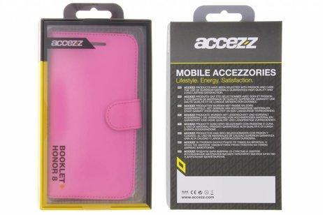 Accezz Wallet Softcase Booktype voor Honor 8 - Fuchsia