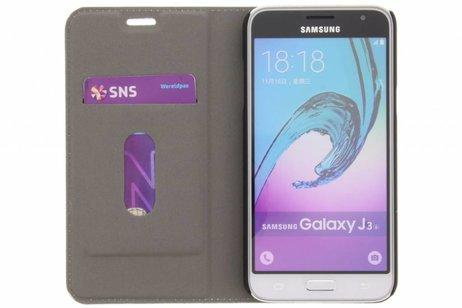 Design Hardcase Booktype voor Samsung Galaxy J3 / J3 (2016) - Feathers Peach