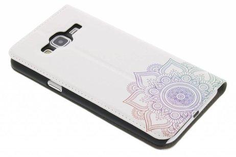 Design Hardcase Booktype voor Samsung Galaxy J3 / J3 (2016) - Mandala Multicolor