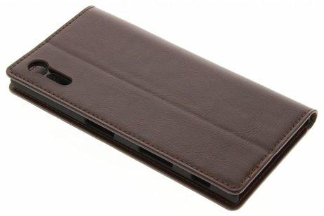 Zakelijke Hardcase Booktype voor Sony Xperia XZ - Bruin