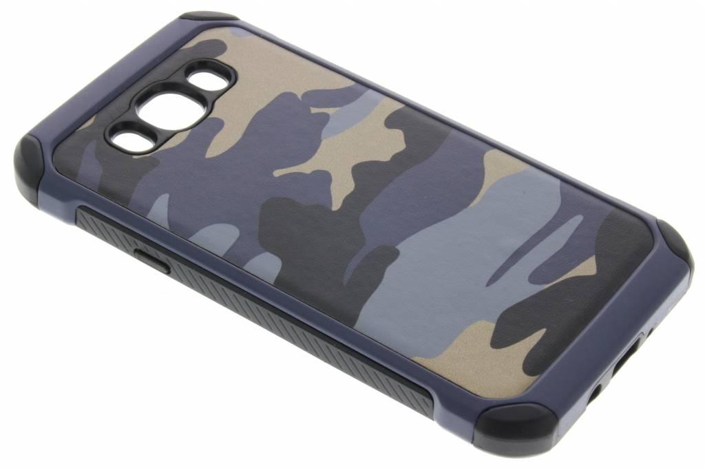 Army Defender Backcover voor Samsung Galaxy J7 (2016) - Blauw