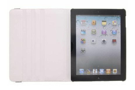 360° Draaibare Bookcase voor iPad 2 / 3 / 4 - Wit