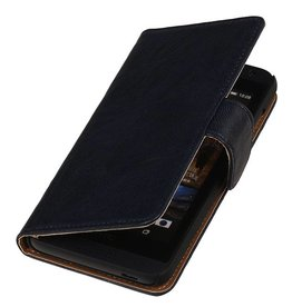 Washed Leather Bookstyle Cover for Nokia Lumia 620 D.Blue