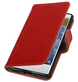 Pull-UP Bookstyle Case for Nokia 3 Red
