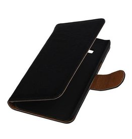 Washed Leather Bookstyle Case for Samsung Z1 Z130H Black